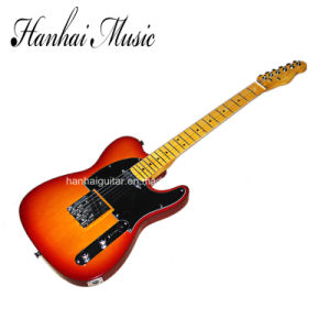 Hanhai Music / Yellow Tele Style Electric Guitar pictures & photos