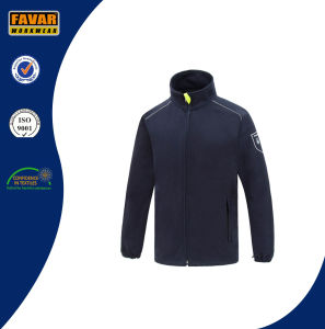 OEM 2016 High Quality in Plain Custom Wholesale Navy Cotton Polar Fleece Jacket pictures & photos