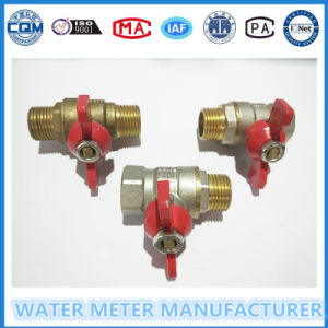 Butterfly Brass Ball Valve for Water Meter Pipe Line pictures & photos