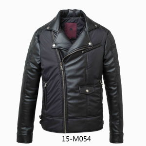Men′s Winter PU Leather Jacket (15-M054) pictures & photos