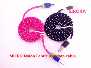 Nylon Fabric Charging USB Cable for 3.5mm Mini Speaker pictures & photos