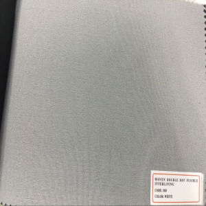Good Quality Factory Non-Woven Double -DOT Fusible Interlining for Garments pictures & photos