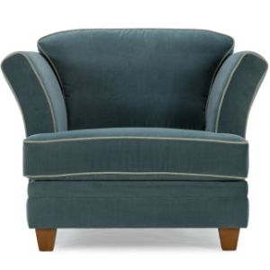 Delighful Leather Sofa Chair Blue Fabric Champagne Throughout Design Ideas