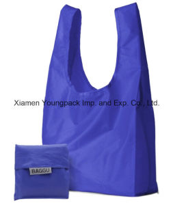 Baggu Cheap Promotional Custom Reusable 190t Nylon Foldable Shopper Bag pictures & photos