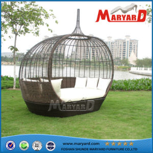 Garden Furniture Rattan Daybed Outdoor Furniture Sunbed on Sale Hotel Pool Furniture pictures & photos