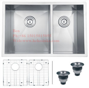 17X32 Inch Stainless Steel Under Mount Handmade Kitchen Sink pictures & photos