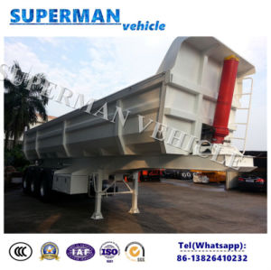 3 Axle U Shape Tipper Semi Truck Dumper Trailer pictures & photos