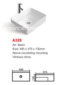 Rectangular Ceramic Stone Sink (No. A328) Sanitary Ware pictures & photos