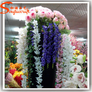 Factory Direct Home Decoration PU Artificial Wisteria Flower pictures & photos