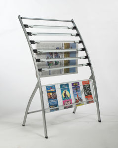 New Outdoor Commerical Metal Magazine and Newspaper Display Stand