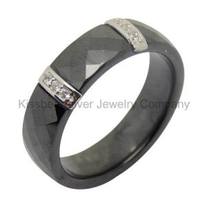 Silver Jewelry Ceramic Ring with Cubic Zirconia (R21069) pictures & photos
