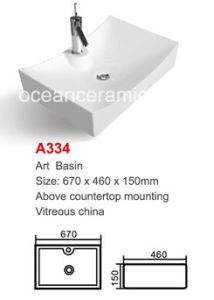 Rectangular Bathroom Sink, Ceramic Wash Basin (No. A334) pictures & photos