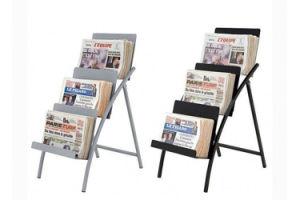Floor Newspaper Display Stand, Floor Metal Display Rack pictures & photos