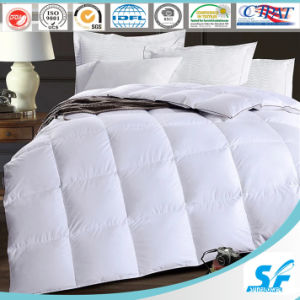 Luxury Hot Sale Jacquard Fabric 90% White Duck Down Duvet pictures & photos