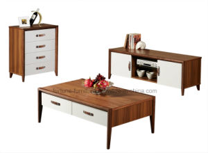 Modern Wooden Walnut and White Color Chest of 4 Drawers (Camel 202) pictures & photos