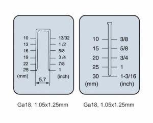 Sf3025 Air/Pneumatic Gauge 18 30/25mm 2 in 1 Combi Nail Gun/Nailer pictures & photos