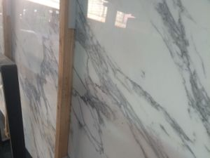 Italy Imported Statuari Marble Slab/ Snow Flake White Marble Slab