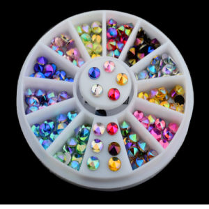 Manufactory for 96 PCS 12 Color 3D Nail Art Tips Gems Crystal Glitter Rhinestone pictures & photos