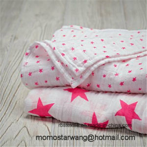 Promotional Baby Swaddle Blanket Made of Muslin Cotton with Elegant Design pictures & photos