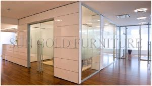 Moden Sound Proof Divider Clear Glass Office Partition Wall (SZ-WS511) pictures & photos