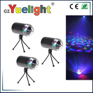Super Bright 3W RGB LED Column Tage Light LED Tri Color Crystal Rotating Ball pictures & photos