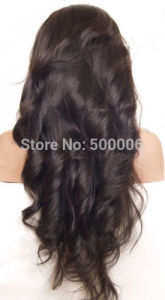 Body Wave Indian Virgin Human Hair Full Lace Wig pictures & photos