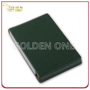 Hot Stamped Genuine Leather with Metal Business Card Case pictures & photos