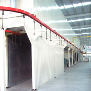Complete Aluminum Powder Coating System with Baking Room