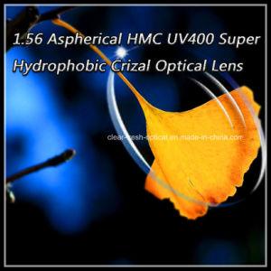1.56 Aspherical Hmc UV400 Super Hydrophobic Crizal Optical Lens