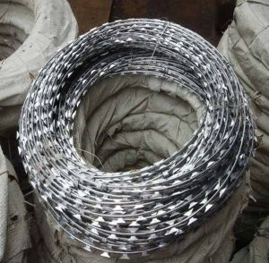 China Hot Dipped Galvanized Concertina Cross Type Razor Barbed Wire Supplier pictures & photos