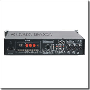 Professional CMOS Priority Mircrophone with Mute Function Public Address Power Amplifier (APMP-0218BD) pictures & photos