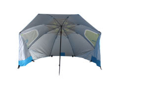 Beach Umbrella with 160g Polyester Fabric Upf50+, High Quality with Two Windows