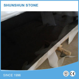 Polished Absolute Black Granite Slab for Countertop/Tombstone/Step Stair pictures & photos