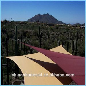 Different Colors and Size HDPE Sun Shade Sail for Outdoor Leisure (Manufacturer)