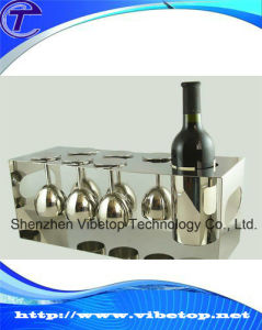 Metal Single Wine Bottle Glass Cup Holder Vbt-W010 pictures & photos