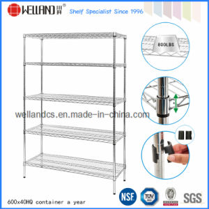 Chrome Double-Face Wire Mesh Display Metal Rack (HD481872A5C) pictures & photos