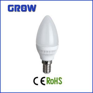 Plastic E14 E27 C37 LED Candle Bulb Light pictures & photos
