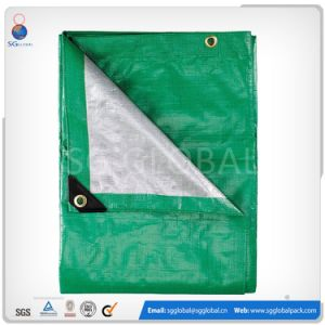 Heavy Duty Silver Plastic Waterproof Tarp Cover pictures & photos