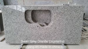 Angel White/Swan Grey Granite Kitchen Countertop pictures & photos