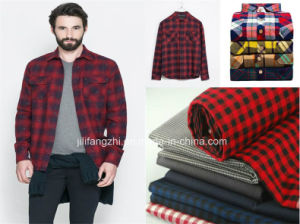 100 Combed Cotton Yarn Dyed Flannel for Shiring