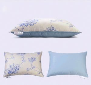 Luxury Flower Pirnting Cover Grey Duck Down Pillow for House pictures & photos