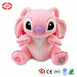 Stitch Pink Sitting Quality Logo Plush Soft Stuffed Toy pictures & photos