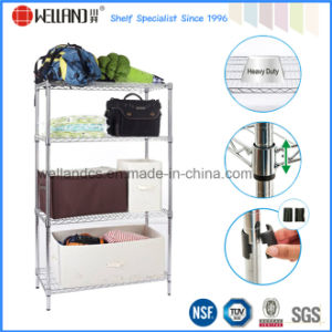 NSF 4 Tiers 500lbs Heavy Duty Chrome Metal Wire Storage Rack (CJ9045150A4C) pictures & photos