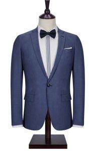 100% Wool Nevy Blue Men Suit pictures & photos