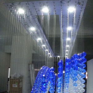 Hotel Lobby Pendant Lamp Blue Handing Luxury Crystal Chandelier pictures & photos