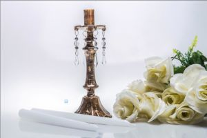 Bronze Single Poster Candle Holder for Wedding Decoration pictures & photos
