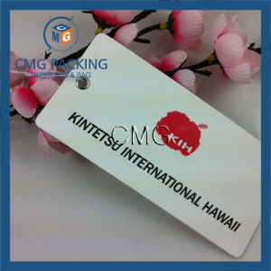 UV Printing Gleamy Effect Paper Clothing Tag (CMG-082) pictures & photos