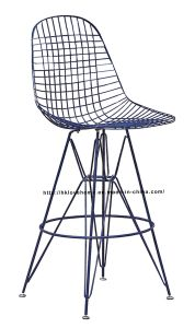 Modern Restaurant Knock Down Steel Wire Eames Side Bar Chairs pictures & photos