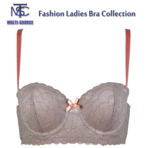 Sexy Transparent Plus Size Push up Ladies Fancy New Design Bra