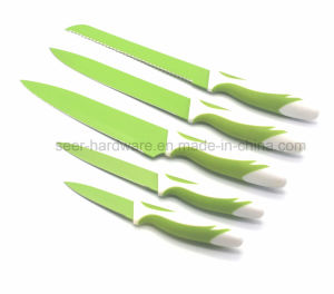 5PCS Colorful Plastic Handle Kitchen Knife (SE-1508) pictures & photos